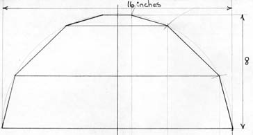 How to design stained glass lamp shades by karal now below this design drawing draw in a circle it must be the same diameter and be aligned with the side elevation drawing now draw in a radius line from aloadofball Images